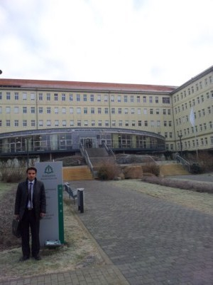 From Syria with German Visa from Ankara - Thank you Embassy !  The Palestinian physician Samir Amin from Aleppo in Syria for med. Residency in internal medicine (cardiology) in the Asklepios hospital  in Pasewalk now. It was a long and hard  way - but successfull.  January 25, 2012